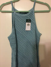 Lauren Ralph Lauren  Knitted Tank Top Sweater Sleeveless Hail Blue Women's SZ LG