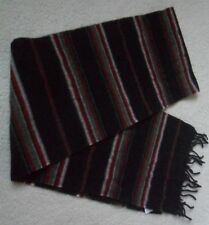 FAT FACE NAVY MIX STRIPE PRINT VINTAGE WASH QUALITY 100% LAMBSWOOL FRINGED SCARF