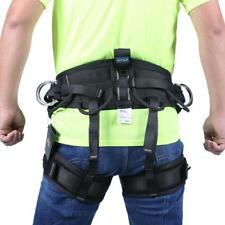 Rock Climbing Safety Harness Rappelling Rescue Sitting Seat Bust Belt Equipment