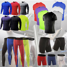 Mens Compression Skin Sportswear Gym Vest T-Shirts Tight Gear Tops Shorts Pants