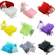 100PCS/Lot Gauze Organza Gift Bag Jewelry Pouch Mini Mult Color Wedding Supplies