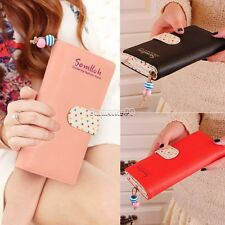 fashion lady women long purse clutch wallet high quality zip bag card holder FT