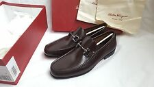 NEW GENUINE SALVATORE FERRAGAMO GIORDANO LOAFERS SHOES LEATHER
