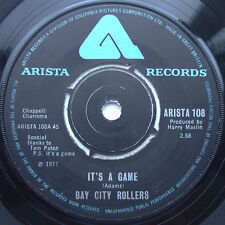 "Bay City Rollers-It's A Game 7"" 45-Arista, ARISTA108, 1977, Plain Sleeve"