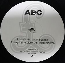 "ABC-Say It (The Black Box Mix) 12""-Parlophone, 12RDJ 6298, 1991, PROMO Company S"