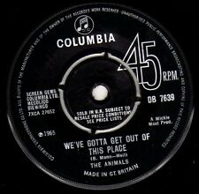 "Animals, The-We've Gotta Get Out Of This Place 7"" 45-Columbia, DB 7639, 1965, Co"