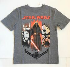 NWT Gap Kids First Order Star Wars Graphic T Shirt Heather Gray Sizes XS S L 2XL