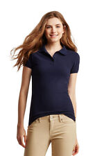 NEW Aeropostale Solid Navy Blue Uniform Short Sleeve Polo Shirt