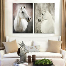 2PC Canvas Painting HD Home Decor Horse Head Pictures for Living Room Unframed