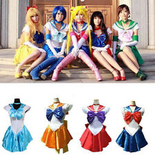 Sexy Sailor Moon Cosplay Costume Uniform Fancy Party Princess Dress with Gloves
