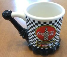 Rare Coca Cola Racing Family Nascar Shift Handle Mug # 519901