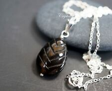 Pineal Gland Necklace - Sterling Silver Black Onyx Pendant