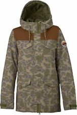 NEW Snow gear Burton Womens Fremont Snowboard Jacket Petal Camo/Brown Leather