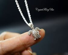 Tortoise Necklace - Tiny Turtle Necklace Silver Turtle Pendant