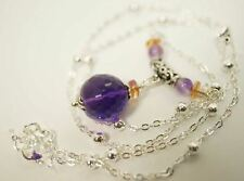 Faceted Amethyst Necklace , Amethyst Jewelry , Bridal Necklace, February