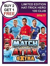 Match Attax EXTRA 2016/17 LIMITED EDITION - HAT TRICK HERO - 100 CLUB 2017