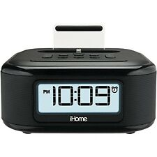 iHome iPL23 Stereo FM Clock Radio with Lightning Dock Charge/Play for iPhone