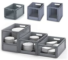 Open Fronted Euro Stacking Picking Bins Plastic Storage Containers Boxes Crates