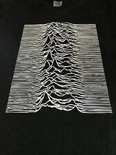 JOY DIVISION UNKNOWN PLEASURES PREMIUM TEXTURED PRINT SHIRT PUNK/INDIE/ICON