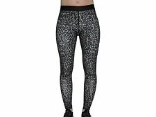 More Mile Shadow Graphic Ladies Womens Running Fitness Tights - Black