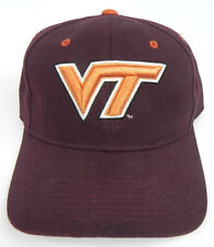 VIRGINIA TECH HOKIES NCAA VINTAGE FITTED SIZED ZEPHYR DH CAP HAT NWT!
