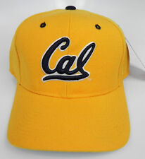 CAL GOLDEN BEARS CALIFORNIA NCAA YELLOW VTG FITTED SIZED ZEPHYR DH CAP HAT NWT