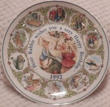 Beatrix Potter Nursery Ware by Wedgwood Birthday Plate 1992 Peter Rabbit NIB