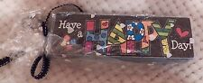 """Romero Britto Desk Block -"""" Have a Happy Day!""""  NWT by GiftCraft"""