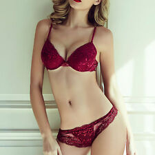 Perfect women Sexy Lingerie Lace Fine Embroidery Underwear Push up Bra&Panties