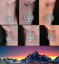 White Tree of Gondor Lord of the Rings Silver Earrings Clip-on Stud Fishhook