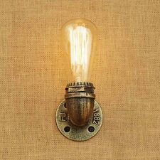 Antique Gold Pipe Wall Lamp Industrial Vintage Retro Small Home Decor Wall Light