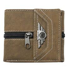 Mens Gents Canvas Money Clip Slim Wallets Credit Card Holder ID Window
