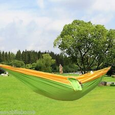 One Person Parachute Nylon Fabric Hammock with Strong Rope 230*90CM