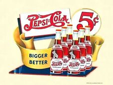 PEPSI COLA OFFICIALLY LICENSED NOSTALGIC METAL ADVERTISING SIGN