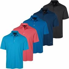 Greg Norman 2017 PlayDry ML75 Tonal Stripe Mens Golf Polo Shirt