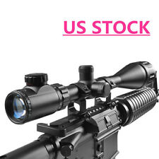 6-24x50 AOEG Rifle Hunting Scope Red Green Dual illuminated Optical Gun Scope US