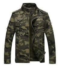 Men Bomber Military Jacket Camouflage Army Work Zipper Coat Outwear Coat Tops