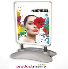 A1 SILVER PAVEMENT POSTER SIGN A-BOARD- SNAP FRAME SHOP DISPLAY STAND