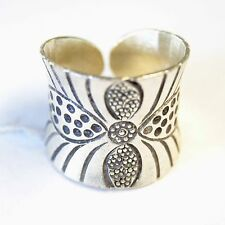 BEAUTIFUL RING PURE SILVER by KAREN HILLTRIBE US=8,UK=P,Adjustable.