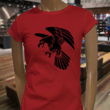 BALD EAGLE AMERICAN ANIMAL BIRD WILD NATURE USA Womens Red T-Shirt