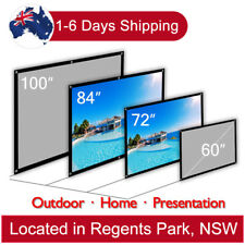 "16:9 Projector Screen Portable Home Theater Outdoor Matte White 100"" 84"" 72"" 60"""