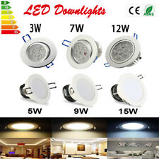 6pcs LED Recessed Ceiling Downlight 3/7/9/12/15W Light Lamp Bulb kit + Driver