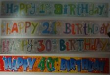 Happy Birthday 1st 21st 30th 40th Foil Banner 3.6meter | NEW | FREE P&P