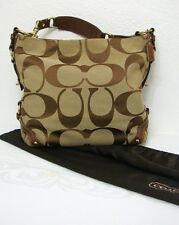 Coach Brown Signature Canvas Carly Bag - Style C0773-10620