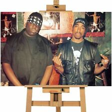 Tupac and Biggie Canvas Print Art  Print A1 Size Great Value High Quality