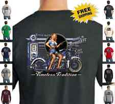 Biker Timeless Tradition Classic Motorcycle Custom Chopper New Mens T Shirt