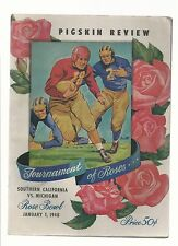 Original  1948  Rose Bowl Program  Michigan vs  USC    Ex Condition