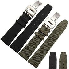 20/21/22mm Nylon Fabric Canvas Leather Watch Strap Band with Buckle IW C Pilot