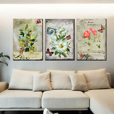 3PC No Framed Canvas Painting Flower Colorful HomeDecor Modular Picture for Room