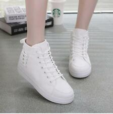New Fashion Women's High top Lace up Platform Sneakers Casual Canvas Shoes